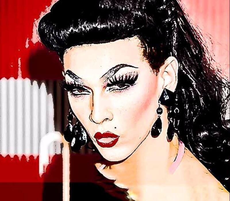 Drag makeup by drag queen makeup artist Fiona Tanner South East