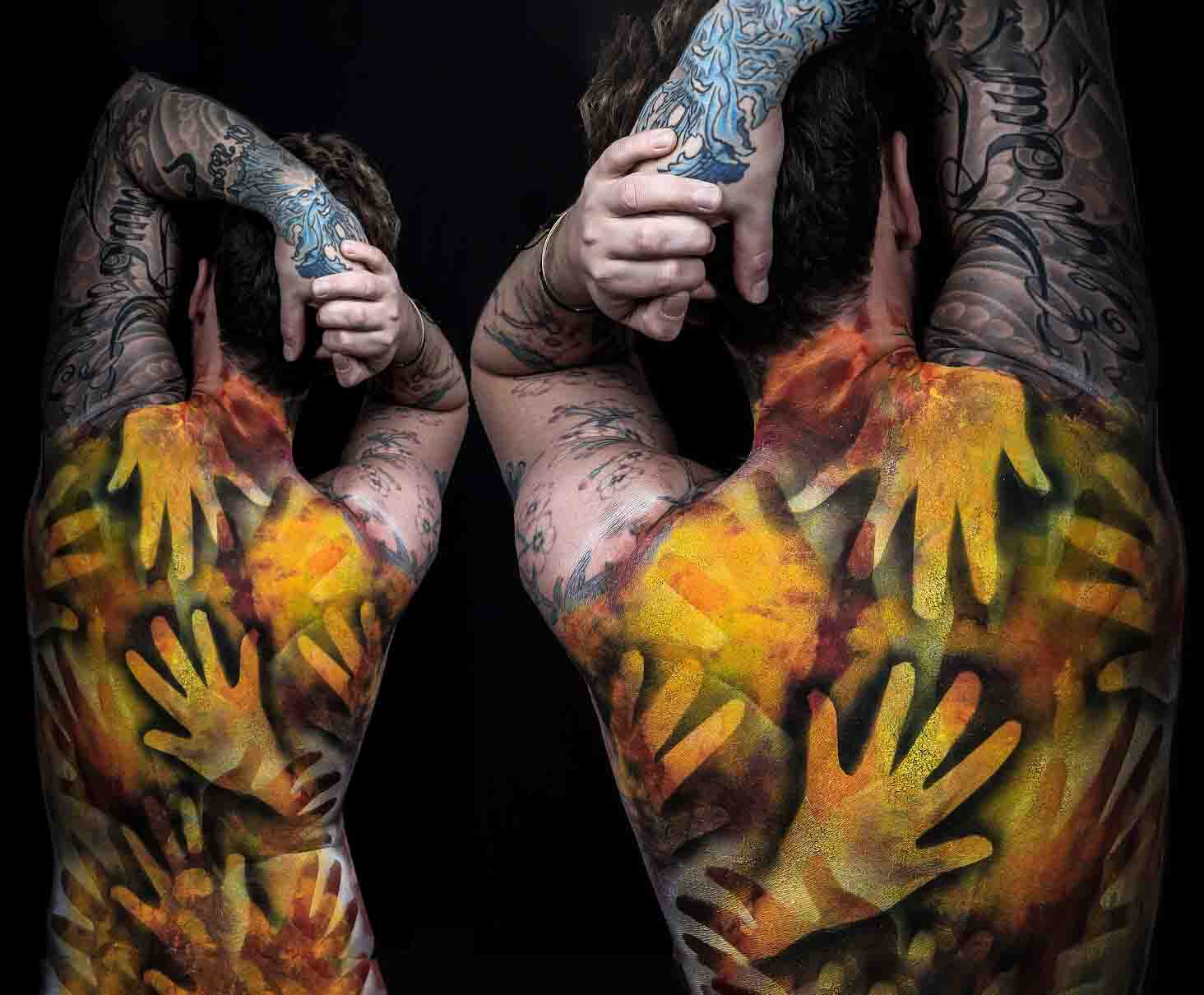 Hand art body painting by FTMakeup London 2