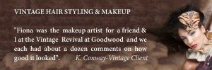 Vintage Hair Styling London based F Tanner-nails and makeup