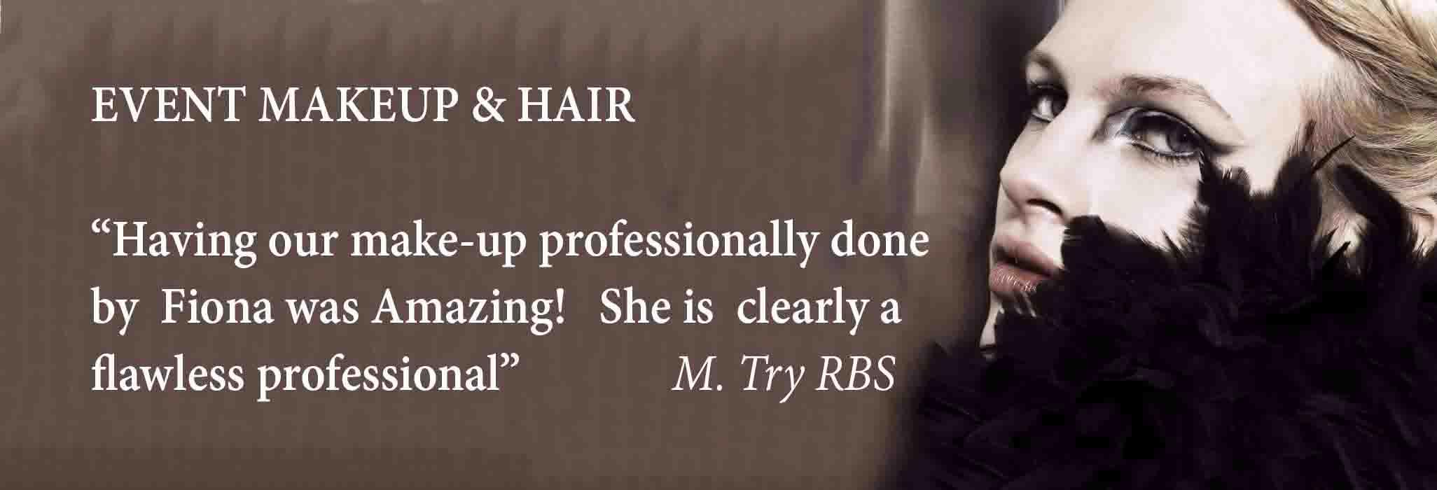 event hair and makeup London FT splash