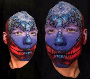 skull body painting London design by FTMakeup London