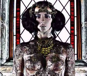 Creative Body Art by Fine Artist London based Fiona Tanner-based on Byzantium