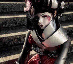 Cyber Geisha-makeup, hair and concept by London Makeup Artist Fiona Tanner