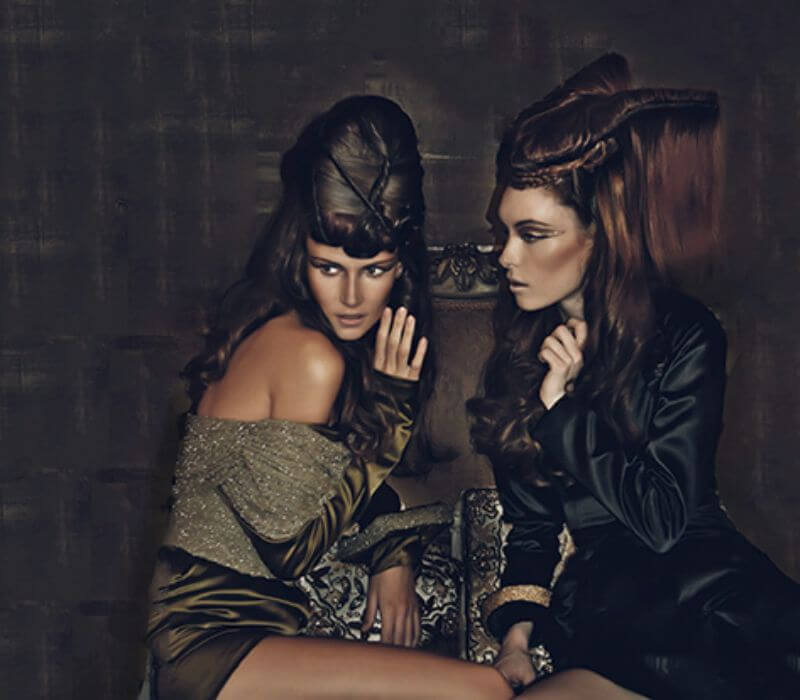 Makeup and hair Designs for Eyola by London based F Tanner