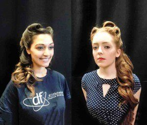 Vintage hair styling for lipstick and curls by FTMakeup3