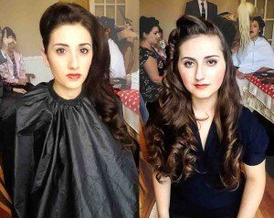 Vintage hair styling for lipstick and curls by FTMakeup4