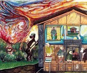 Three Little Pigs by Fine Artist Fiona Tanner