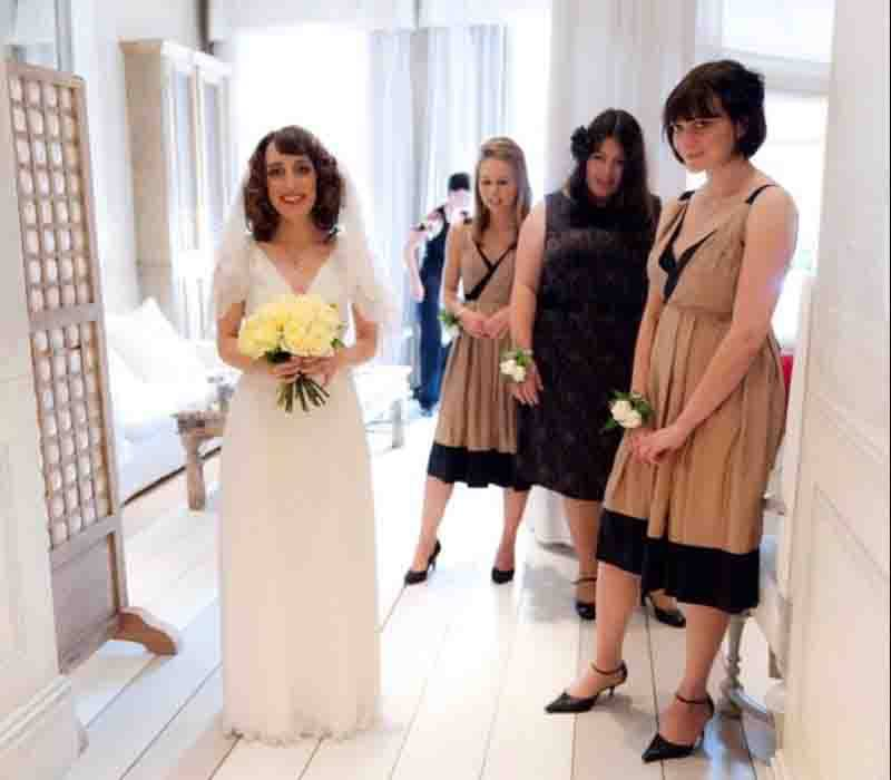 Modern 1930s wedding-bridal makeup and hair London based services FT