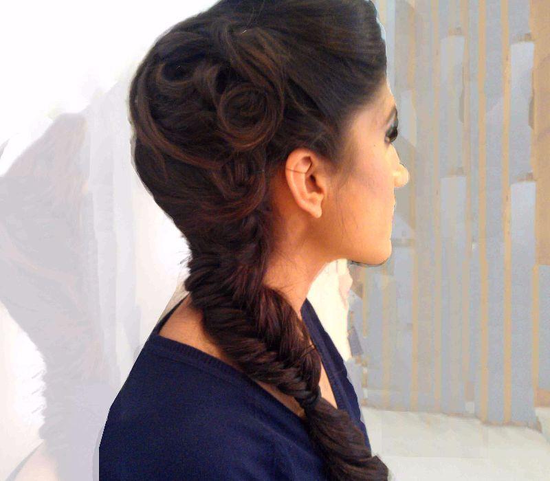Asian hair artist Fiona Tanner-Hair Trial Braiding