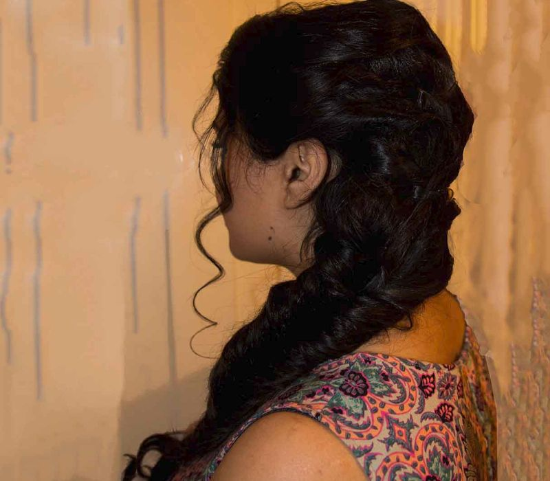 Asian hair artist FTMakeup for Fatima Qureshi fish tail braid