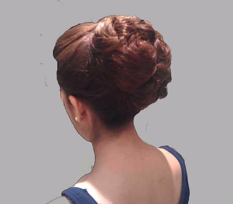 London based FTMakeup London-Hair Trial up do with extensions