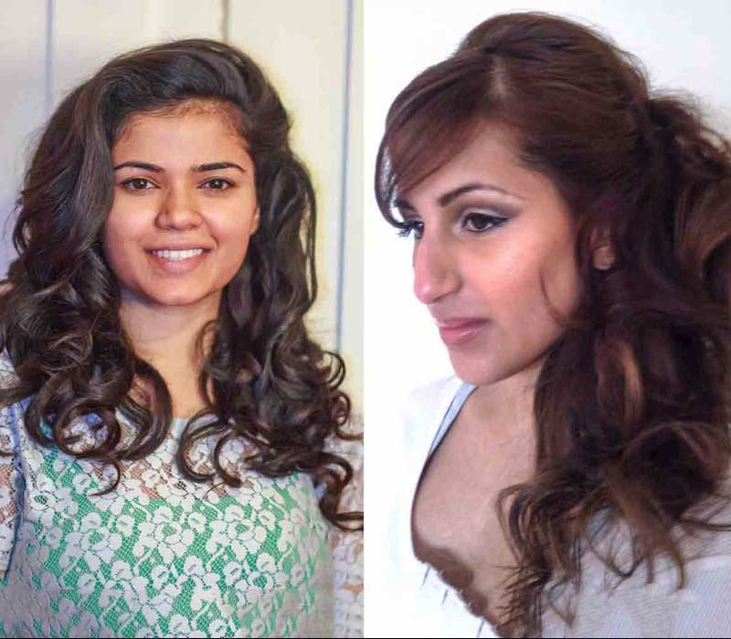 bridal makeup hair trial by Asian bridal makeup artists London Fiona Tanner11