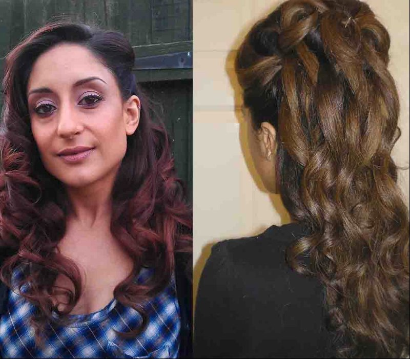 bridal makeup hair trial by Asian bridal makeup artists London Fiona Tanner13