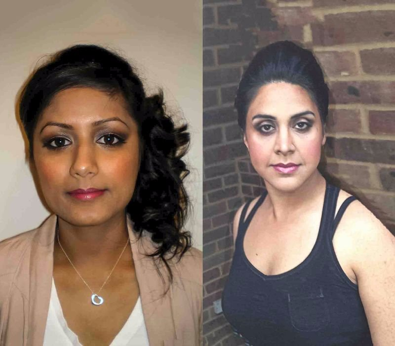 bridal makeup hair trial by Asian bridal makeup artists London Fiona Tanner
