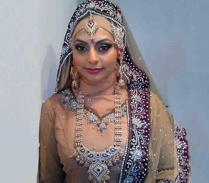 Bushra Minhas by Indian Wedding makeup and hair by London artist Fiona Tanner Makeup London
