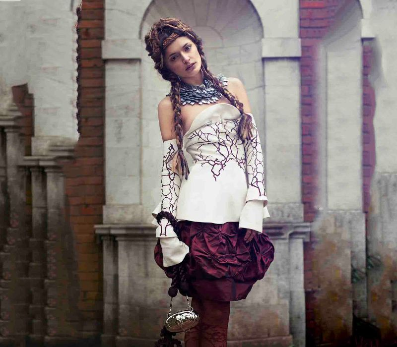 Byzantium inspired fashion by period makeup artist Fiona Tanner hair designer