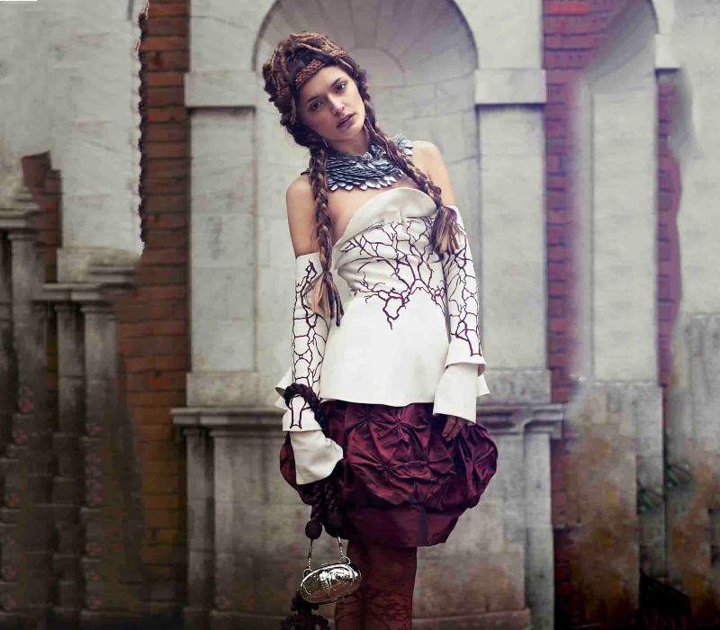 Byzantium inspired fashion by period makeup artist Fiona Tanner hair designer