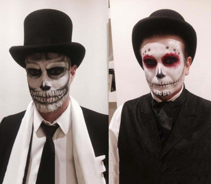 HALLOWEEN makeup artist London services by FT day of the dead and skull