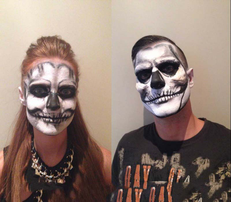 HALLOWEEN makeup services by FT south east deathly uv skulls