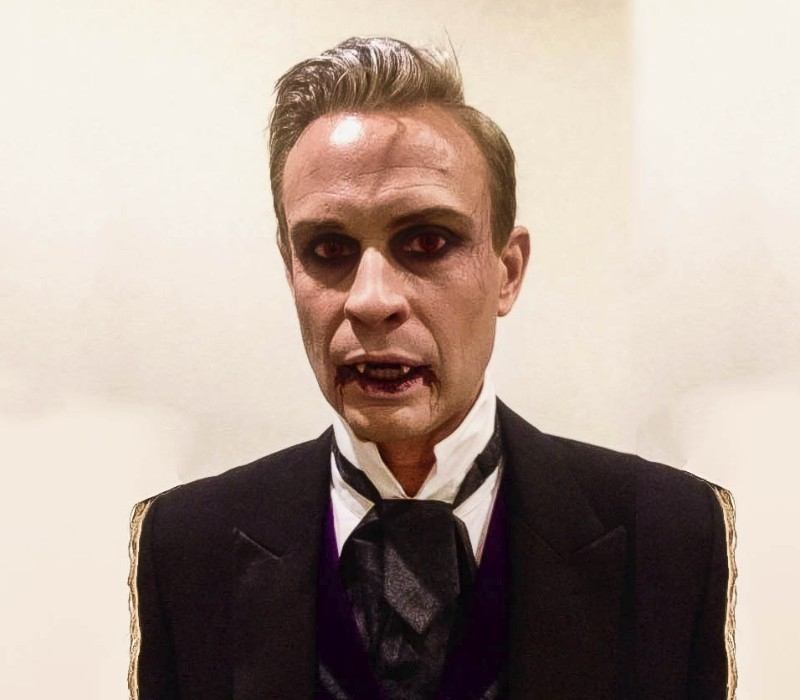 HALLOWEEN makeup artist services by Fiona Tanner classic christopher Lee vampires