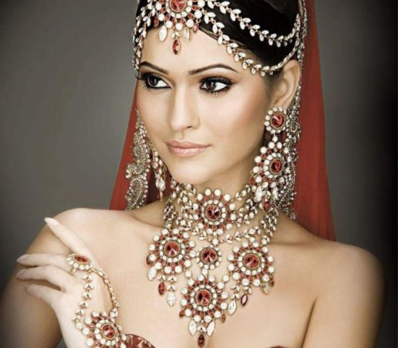 Hair Makeup with Dupatta Setting by Asian Bridal makeup London Fioan Tanner Makeup London 2
