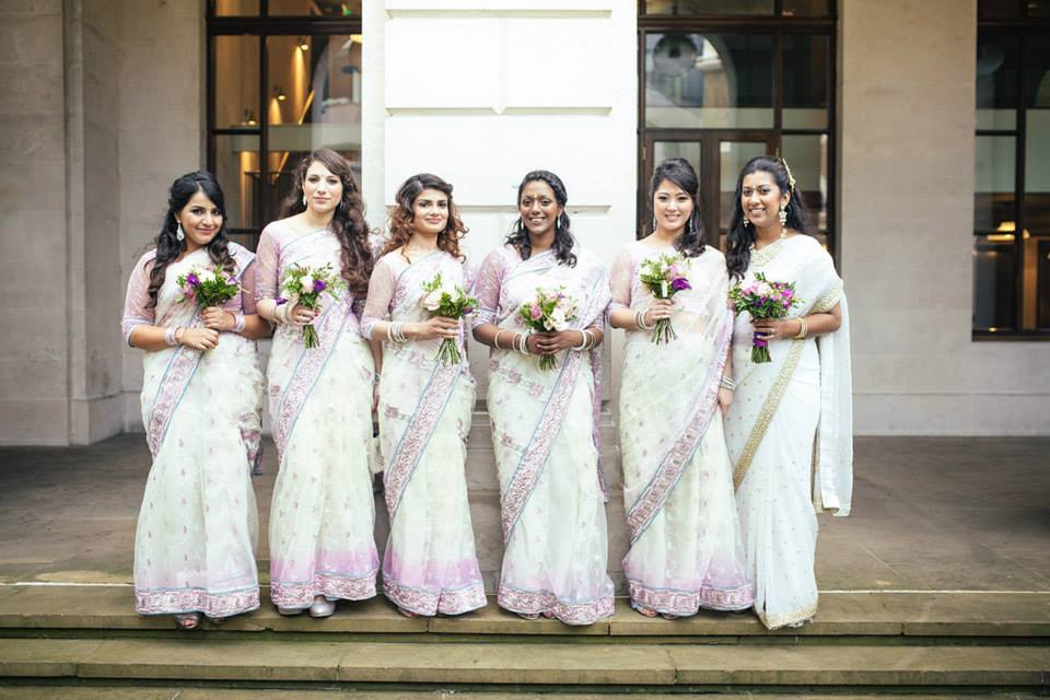 Modern Indian Wedding by Fiona Tanner Makeup London with nails 5