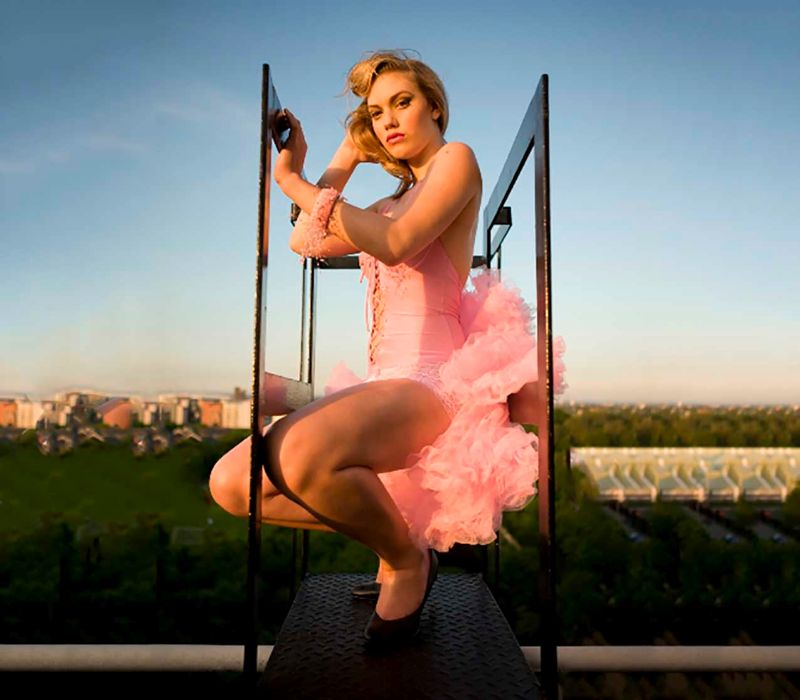 Pin up Girl Vintage shoot by makeup artist FT