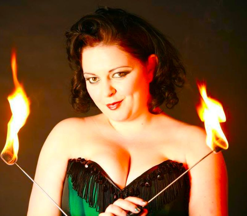 Theatrical makeup FT fire eater burlesque performer