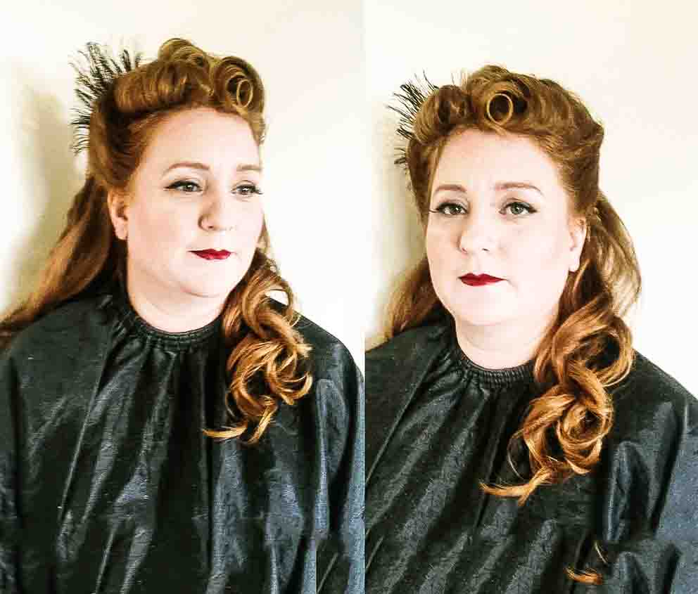 Vintage hair for lipstick and curls by Fiona Tanner South East
