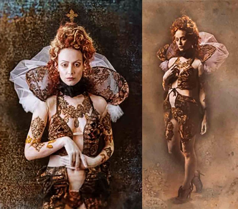 body painting services by Fiona Tanner QUEEN ELIZABETH