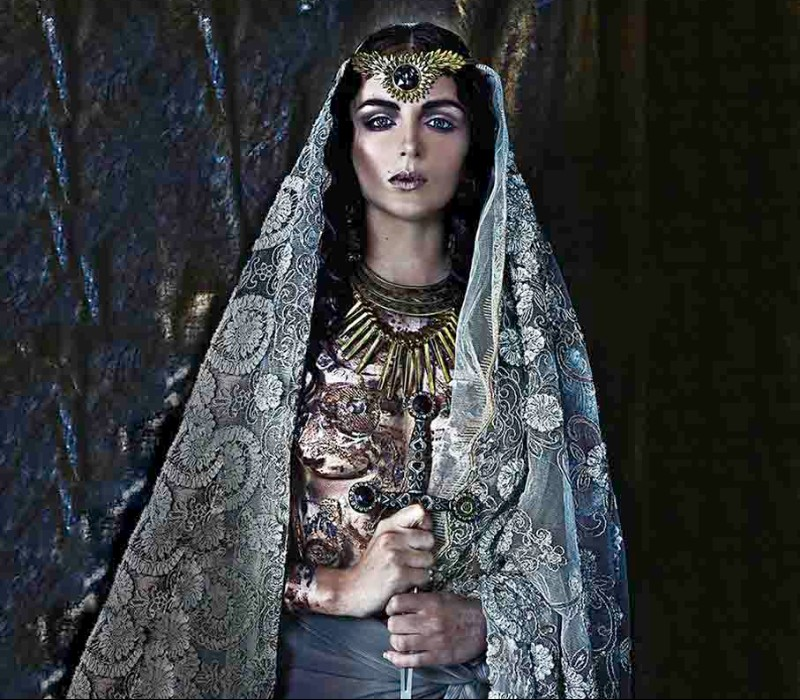 body painting services by Fiona Tanner free hand byzantium theme