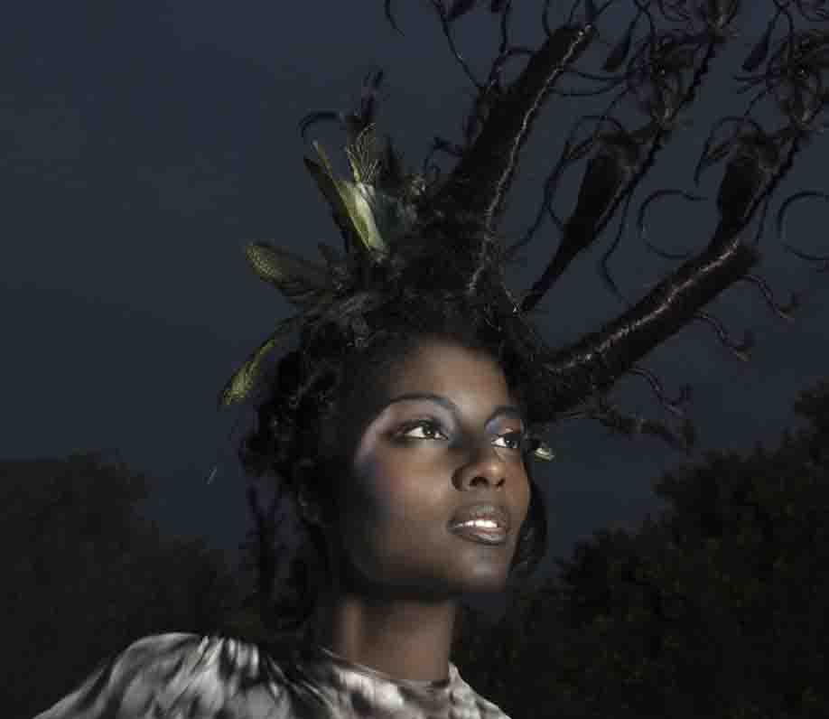 creative makeup artist Darwin shoot based on birds fiona tanner
