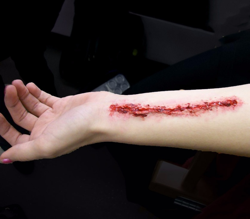 slit wrist by makeup artist Fiona Tanner SOUTH EAST