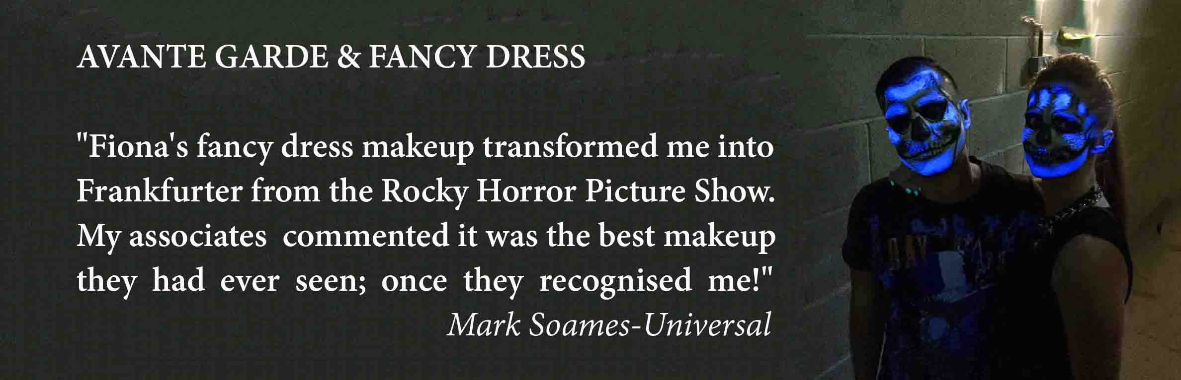 avante garde & fancy dress 4 makeup artists in London