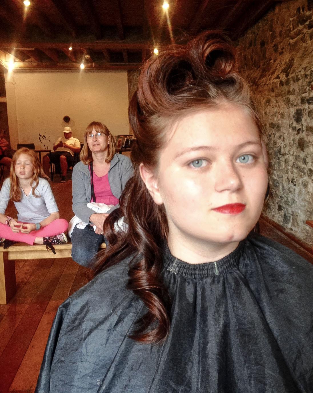 Vintage Hairdresser London Based Ft For Lipstick Curls Ww2 Event