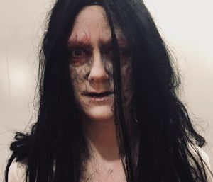 The ring makeup by Fiona Tanner for Halloween