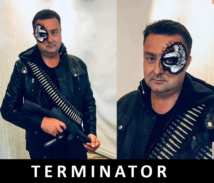 TERMINATOR PROSTHETIC AND FLESH WORK 2018 by FT