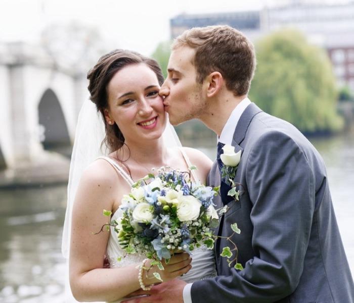 hannah sykes april 2018 bride-Hannah and hubby 2