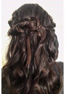 Hair down with fishtail plait at ftmakeup london