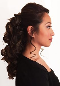 beautiful tumbling hair down look by hair stylist fiona tanner 2