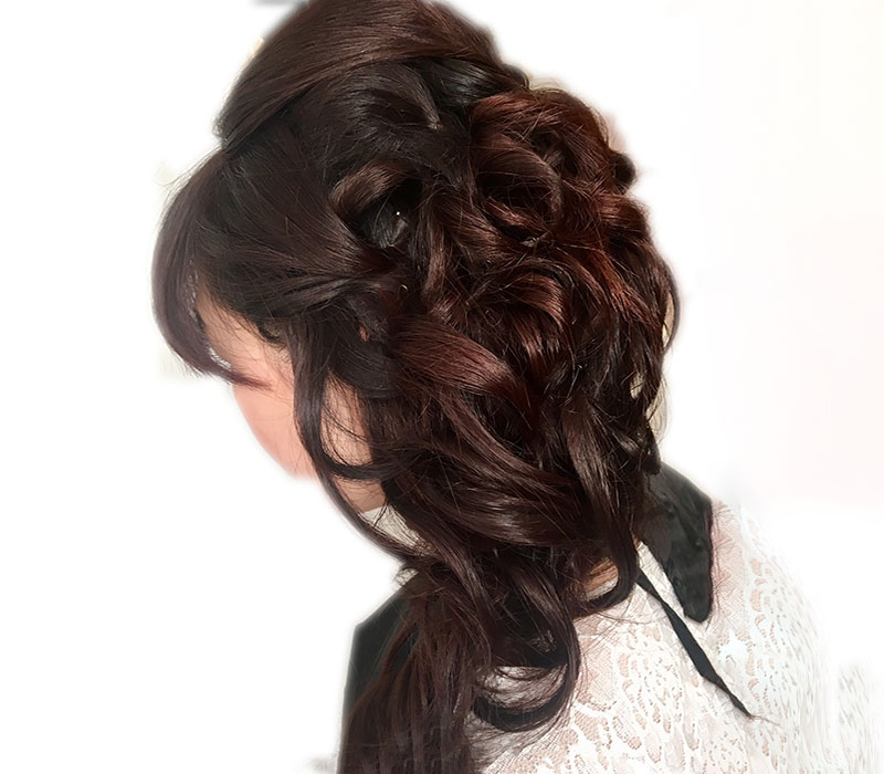Asian wedding hair up