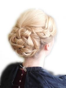 Braided up do with large bun