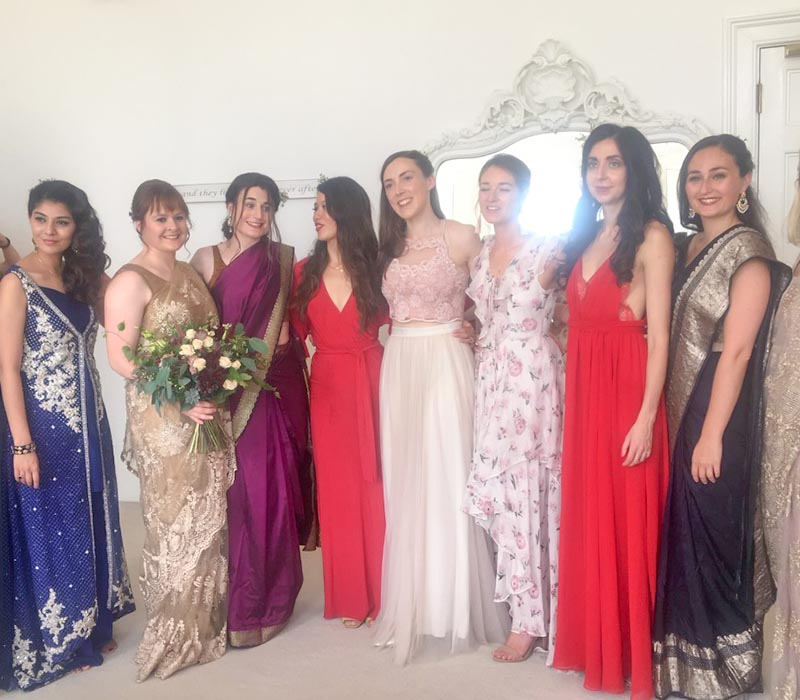 Bridal party for asian weddings at FTMkaeup