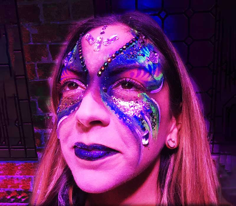 Butterfly face painting at ftmakeup london