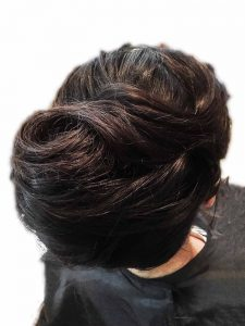 Classic tousled french twist