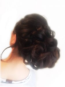 Classic up do with curl details