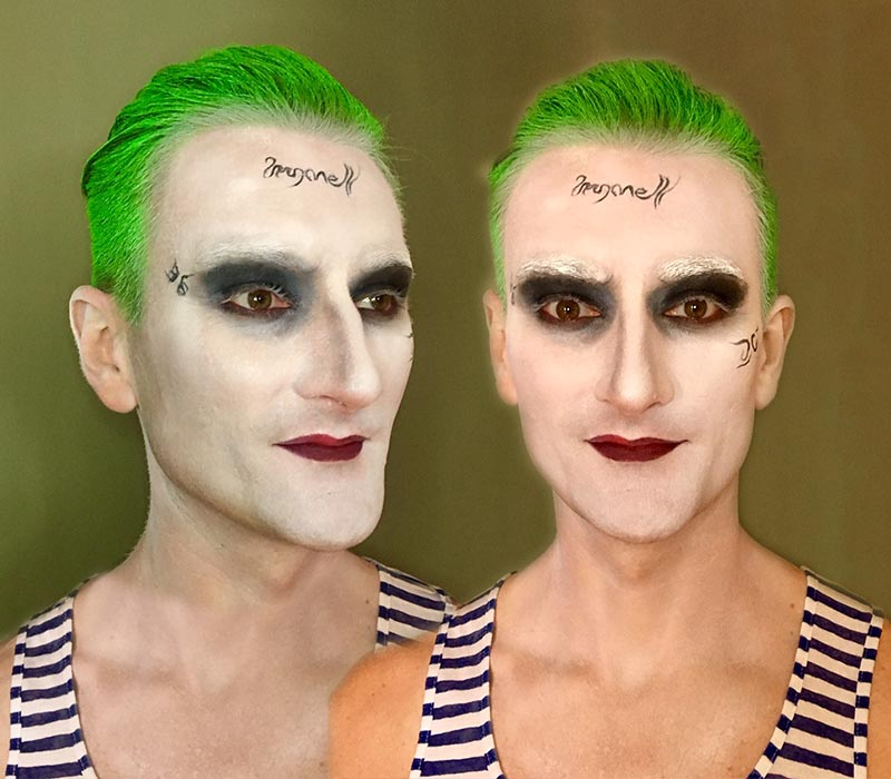 Jed Leto Joker for halloween at ftmakeup london 2018