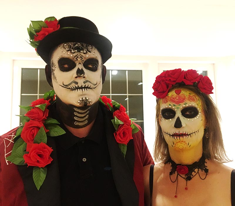 Mexican day of the dead makeup at ftmakeup London 2018