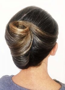 Mobile hair and makeup artist classic french twist