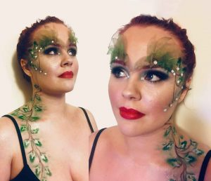 Poison Ivy inspired makeup at FTMakeup London
